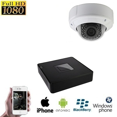 1x HD IP Dome Camera Set