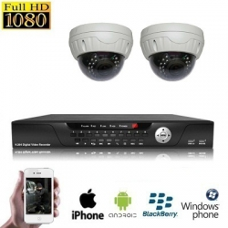 2x Dome Camera Set HD SDI Binnen