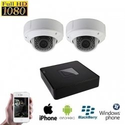 2x HD IP Dome Camera Set