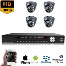 4x Mini Dome Camera Set HD 960P