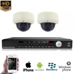 2x Dome Camera Set 720P HD