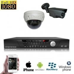 2x IR Dome Camera Set HD SDI
