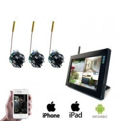 3x Wireless Spy Camera LCD DVR
