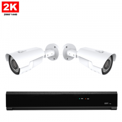 2x IR IP Camera 2K POE Bekabeld