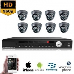 8x Mini Dome Camera Set 960P HD